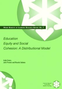 Education Equity and Social Cohesion: A Distributional ... - IOE EPrints