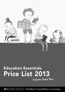 Education Essentials Price List 2013 - Scholastic Australia