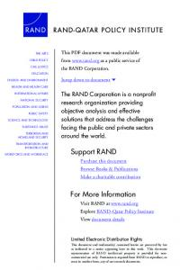 Education for a New Era - RAND Corporation