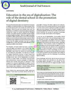 Education in the era of digitalization: The role of the