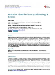 Education of Media Literacy and Ideology & Politics - Scientific ...