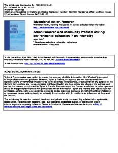 Educational Action Research Action Research and
