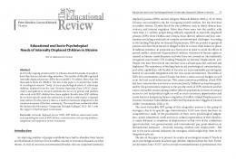 Educational and Socio-Psychological Needs of Internally Displaced ...