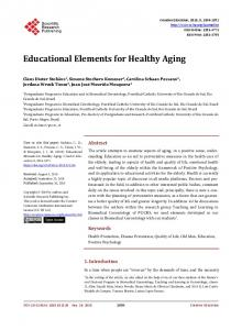 Educational Elements for Healthy Aging