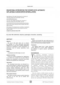 educational intervention for patients with automatic implantable ...