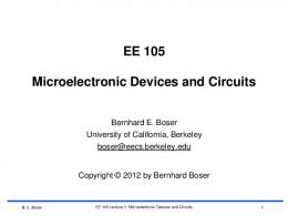 EE 105 Microelectronic Devices and Circuits