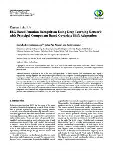 EEG-Based Emotion Recognition Using Deep Learning Network with ...