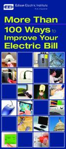 EEI - More Than 100 Ways to Improve Your Electric Bill