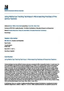 EERA: Using Mobile Eye Tracking Technique in Micro-teaching ...