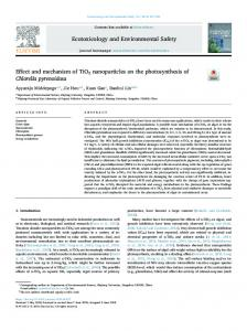 Effect and mechanism of TiO2 nanoparticles on the