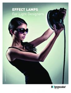 EFFECT LAMPS For Light Designers EFFECT LAMPS For ... - Tuttofoto