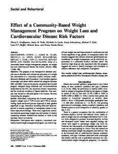 Effect of a CommunityBased Weight Management Program on Weight ...