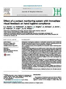 Effect of a contact monitoring system with immediate visual feedback ...