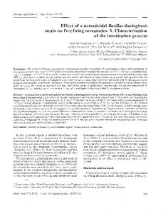 Effect of a nematicidal Bacillus thuringiensis strain on ...