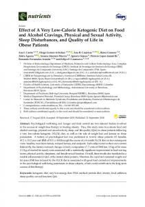 Effect of A Very Low-Calorie Ketogenic Diet on Food and ... - MDPI