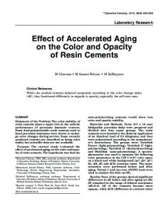 Effect of Accelerated Aging on the Color and ... - Operative Dentistry