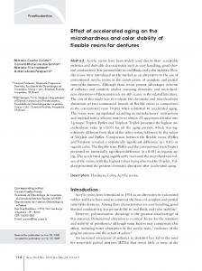 Effect of accelerated aging on the microhardness and color ... - Scielo.br