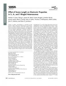 Effect of Acene Length on Electronic Properties in ... - Semantic Scholar