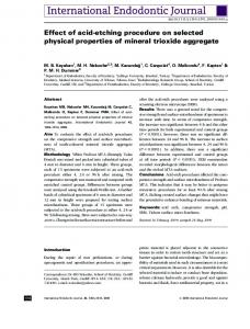 Effect of acid-etching procedure on selected physical properties of ...