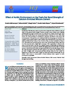 Effect of Acidic Environment on the Push-Out Bond ... - CiteSeerX