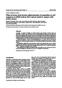 Effect of acute and chronic administration of tamoxifen on GH ...