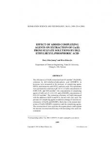 EFFECT OF ADDED COMPLEXING AGENTS ON