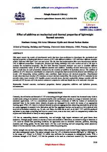 Effect of additives on mechanical and thermal properties - iMedpub