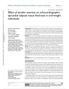 effect of aerobic exercise on echocardiographic
