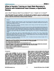 Effect of Aerobic Training on Heart Rate Recovery ... - Semantic Scholar