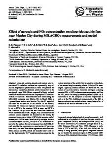 Effect of aerosols and NO2 concentration on ... - Atmos. Chem. Phys