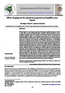 Effect of aging on the physical properties of landfill cover layers