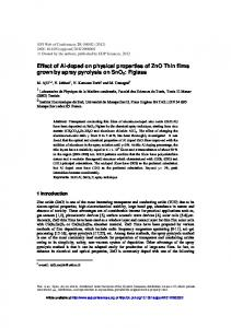 Effect of Al-doped on physical properties of ZnO Thin films grown by ...