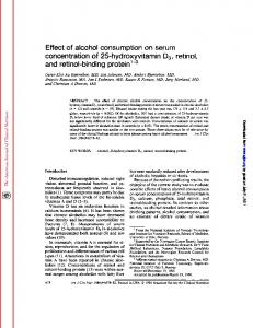Effect of alcohol consumption on serum concentration