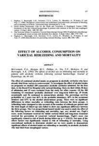 effect of alcohol consumption on variceal rebleeding and ... - NCBI