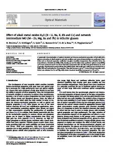 Effect of alkali metal oxides R2O - CREOL