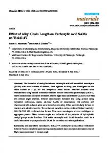Effect of Alkyl Chain Length on Carboxylic Acid ... - Semantic Scholar