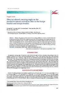 Effect of altered carrying angle on the medial-to-lateral ... - J-Stage