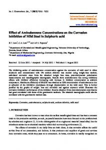 Effect of Aminobenzene Concentrations on the Corrosion inhibition of