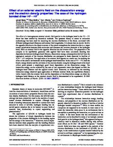 Effect of an external electric field on the dissociation energy and ... - Core