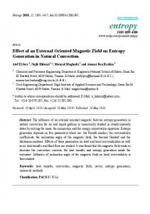 Effect of an External Oriented Magnetic Field on Entropy ... - CiteSeerX