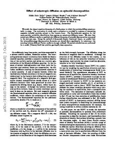 Effect of anisotropic diffusion on spinodal decomposition