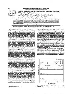 Effect of Annealing on the Structural and Electrical ...