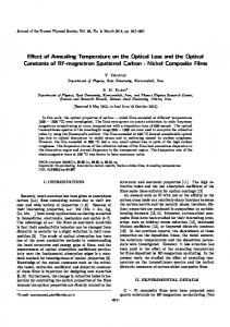 Effect of Annealing Temperature on the Optical Loss ... - Springer Link