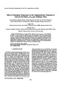 Effect of Annealing Temperature on the ... - Springer Link