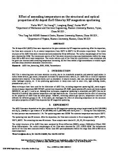 Effect of annealing temperature on the structural and ...