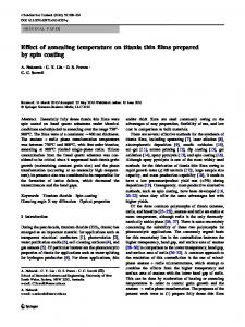 Effect of annealing temperature on titania thin films ... - Springer Link