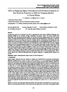 Effect of Applying Organic Amendments and Chickpea Integration on