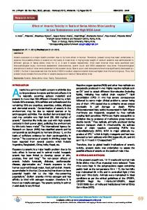 Effect of Arsenic Toxicity in Testis of Swiss Albino ...