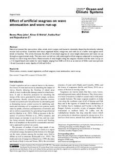 Effect of artificial seagrass on wave attenuation and ... - SAGE Journals