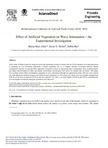 Effect of Artificial Vegetation on Wave Attenuation - ScienceDirect.com